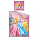 Großhandel Lizenzartikel: Bettwäsche 160x200 70x80 Disney Princess Baumwolle
