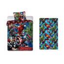 + lenzuolo di lino Avengers 140x200 cotone