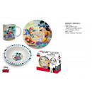 wholesale Organisers & Storage: A set of ceramic breakfast 3 el box Mickey