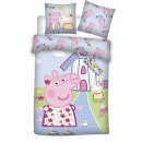 Baby peppa bedding, windmill 135x100 40x60 coton