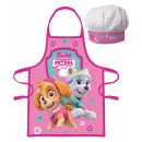 Paw Patrol apron and cooking hat 1058
