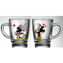 Kubek Mickey i  Minnie Liścik 350 ml DISNEY