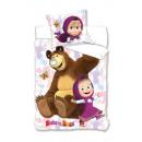 bed linen Masha and Bear 160x200 70x80 coton