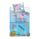 bed linen 135x100 60x80 Peppa Pig George coton