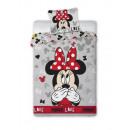 Großhandel Lizenzartikel: Bettwäsche Maus  Minnie Disney 140x200 70x90 Baumwo