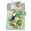 Bedding 160x200 70x80 coton teenage toucan
