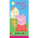 wholesale Home & Living: towel Peppa the Pig 70/140 coton