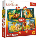 Großhandel Spielwaren: Trefl Puzzle 4W1 und Freunde DisneyLion King 343