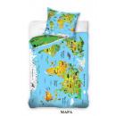 bed linen map 160x200 70x80 100% coton