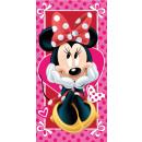 Handtuch JJ Minnie Hearts 70 / 140cm