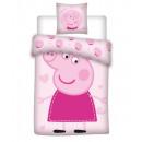 Baby bedding Peppa Pig 135x100 40x60 coton