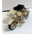 Motor met zijspan klassieke metalen