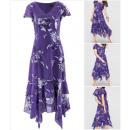 mayorista Otro: Damen Kleid  púrpura con  dobladillo pañuelo ...