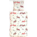 wholesale Bedlinen & Mattresses: pillowcase moose pattern winter pillowcase bed