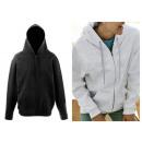 Großhandel Pullover & Sweatshirts: Fruit of The Loom Herren Damen Zip Hoodie Zipper