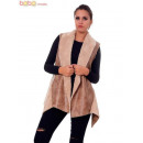 wholesale Coats & Jackets:Furry vest Cream