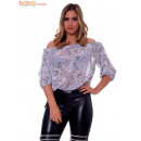 wholesale Shirts & Blouses: Blouse With  Elastic Shoulders and Waistline