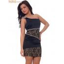 Vestido de la mujer elegante vestidos de Saten Neg