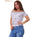 wholesale Fashion & Mode: Blouse With  Elastic Shoulders and Waistline