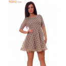 wholesale Erotic Clothing: Babydoll Dress  Bubbles Velvet Cream Dresses