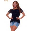 wholesale Shirts & Blouses: Casual Woman Blouse Black Blouses