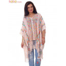 wholesale Pullover & Sweatshirts: Knitted Woman Poncho Apricot