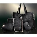 Women Set crocodile look Tote Handbag