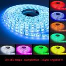 5m RGB LED Stripe  Leiste Streifen Band  24 Komb.