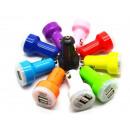 Universal USB Car Charger 2-Port Bullet