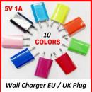 USB charger EU / UK Plug Wall Charger Smartphone