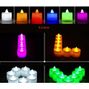 Velas LED de diferentes colores multicolor LED Vel