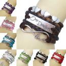 Pelle braccialetto Amore Wickelarmband