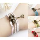 Bracelet en cuir  bracelet bracelet Musique liquida