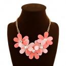 ingrosso Gioielli & Orologi: Collana moda in  Floral Design elegante catena