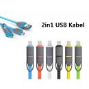 2in1 câble de  chargement micro USB Sync + foudre U