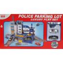 wholesale RC Toys: GARAŻE POLICE CARS  2 RESORAKI HELICOPTERS