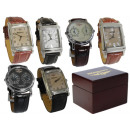 wholesale Accessories & Spare Parts: MALE ANALOGUE WATCHES LEATHER STRAP STEEL