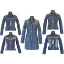 Jacken für den  Frühling Herbst Denimjeans Baumwoll