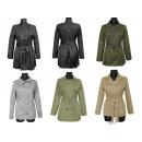 de las mujeres  chaqueta abrigos francesa otoño