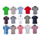 Großhandel Hemden & Blusen: HERREN-T-SHIRTS MIT KURZEN ÄRMELN LÄSSIGER BESUCH