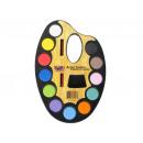 Sets mit 12 Farben, Aquarellen und Pinseln für Kin
