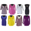 wholesale Shirts & Tops: Tunic blouses shirts mix 36-46