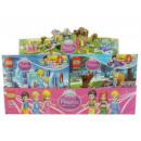 Toy blocks in a box Princess doll figurines