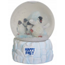 wholesale Snow Globes: Glass snow globes HAPPY FEET Patter of small feet