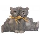 Chats décorations de coeur figurines jouets coeur