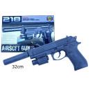 mayorista Juguetes: Pistolas de bolas con láser y silenciador de jugue