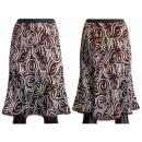 wholesale Skirts: Midi skirts brown white patterns 36-42