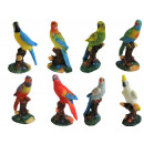 Figurines toys parrots home decorations