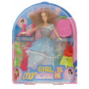 LARGE DOLLS IN A DRESS 4 DRESSES SHOES SUITCASE