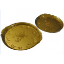 Lot von 2 FLAT OVAL GOLDEN